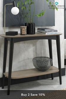 Vintage Weathered Oak Console Table by Bentley Designs