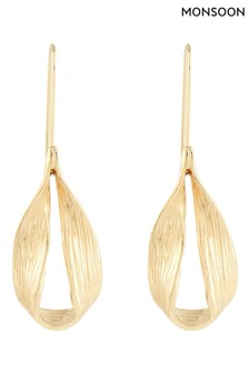 Monsoon Gold Tone Simple Drop Earrings