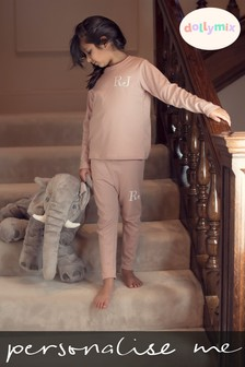 Personalised Nude Lounge Set by Dollymix