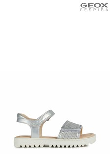 Geox Girl's Coralie Silver Sandals