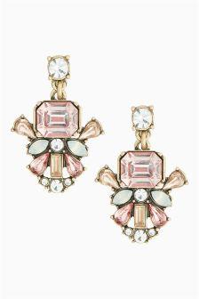 Pink Crystal Effect Earrings