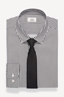 Stripe Shirt With Tie