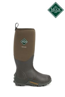 Muck Boots Brown Wetland Hi Patterned Wellington Boots
