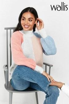 Wallis Pastel Colourblock Sweater