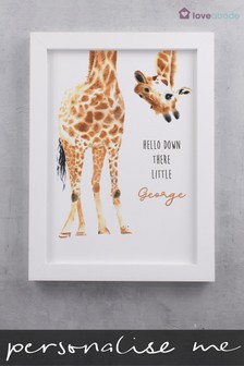 Personalised Giraffe Wall Art by Loveabode
