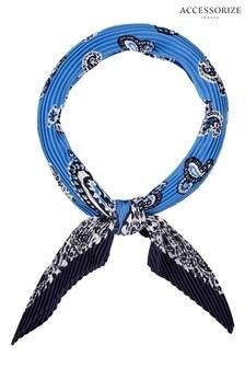 Accessorize Blue Paisley Print Bandana