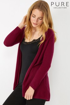 Pure Collection Red Gassato Swing Cardigan