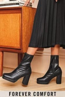 Forever Comfort® Square Toe Platform Boots