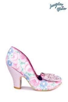 Irregular Choice Pink Nick Of Time Court Shoes