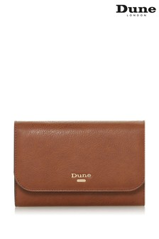 Dune London Kauraz Tan Synthetic Printed Purse And Phone Holder