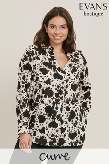 Evans Curve Animal Print Shirt