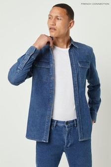 French Connection Blue Classic Denim Shirt