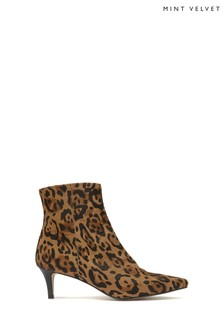Mint Velvet Animal Jodie Leopard Kitten Boots