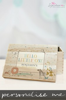 Personalised Hello Little One Memory Box by Signature PG