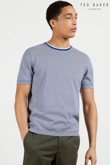 Ted Baker Raki Fine Stripe Ribstart T-Shirt