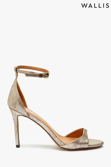 Wallis Gold Perfect Barely There Two Part Sandals