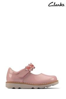 Clarks Light Pink Lea Crown Petal T Shoes