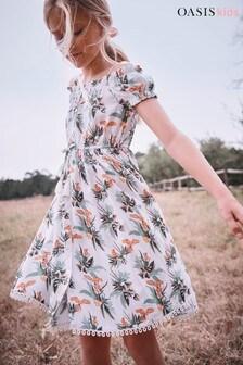 Oasis Tropical Cold Shoulder Dress