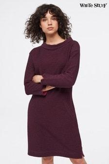White Stuff Purple Bellever Cowl Dress