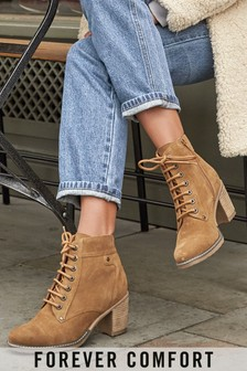 Forever Comfort® Lace-Up Boots