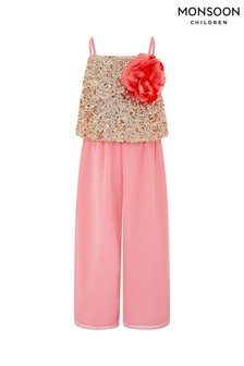 Monsoon Pink Josie Jumpsuit