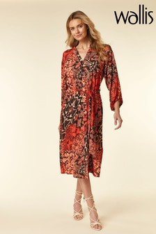 Wallis Sunset Snake Shirt Dress