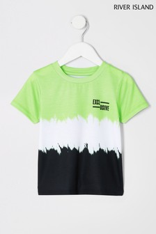 River Island Green Fade Exclusive T-Shirt