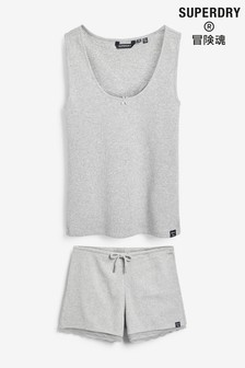 Superdry Grey Vest Pyjama Set