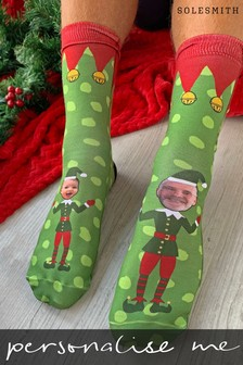 Personalised Elf Yourself Photo Socks by Solesmith