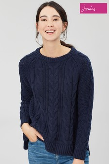 Joules Blue Dawson A-Line Cable Jumper
