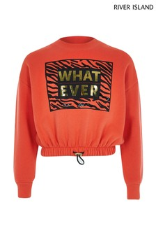 River Island Red Whatever Sweater