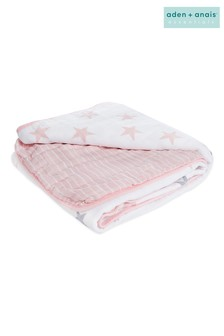 aden + anais Essentials Cotton Muslin Doll Blanket