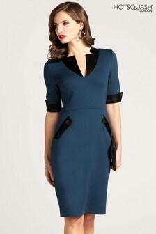 HotSquash Contrast Collar Short Sleeved Dress