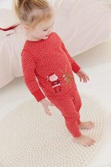 Santa Embroidery Snuggle Fit Pyjamas (9mths-8yrs)