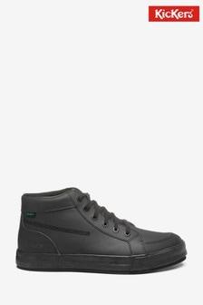 Kickers Black Tovni Hi Leather Shoes