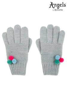 Angels by Accessorize Silver Multi Mini Pom Pom Gloves
