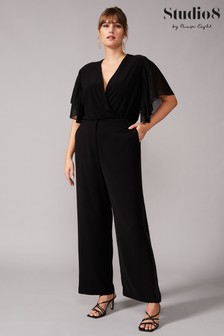 Studio 8 Black Tawnee Satin Stripe Trousers