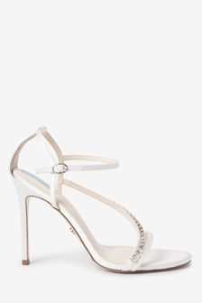 Bridal Asymmetric Jewel Sandals