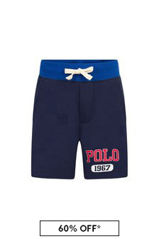 Ralph Lauren Kids Boys Navy Cotton Shorts