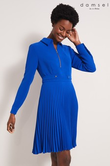 Damsel In A Dress Blue Jola Pleat Dress