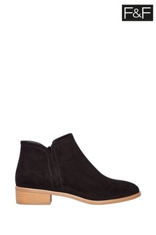 F&F Black Ankle Pixie Boots