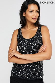 Monsoon Silver Alexia Embellished Sleeveless Top