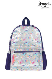 Angels by Accessorize Silver Super Unicorn Print Backpack