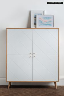 Moritz 4 Door Cabinet Oak by Julian Bowen