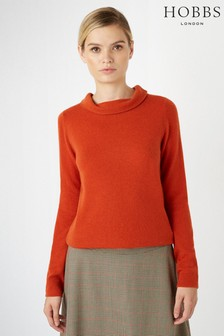 Hobbs Orange Audrey Sweater