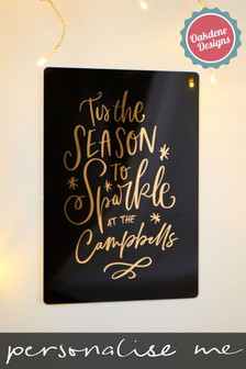 Personalised Family Season To Sparkle Sign by Oakdene Designs