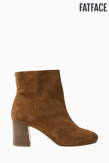 FatFace Brown Kea Block Heel Ankle Boots