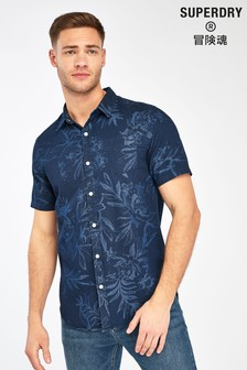 Superdry Navy Industrial Short Sleeve Shirt