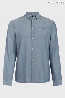 AllSaints Indigo Chambray Irvine Shirt