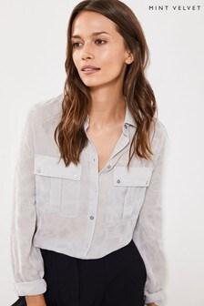 Mint Velvet Leopard Jacquard Utility Shirt